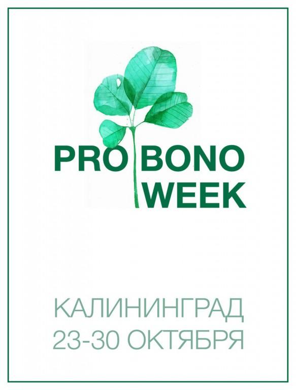 Неделя профессионального волонтёрства ? PRO BONO WEEK