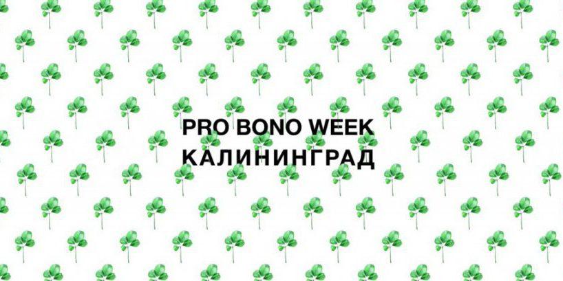 PRO BONO WEEK