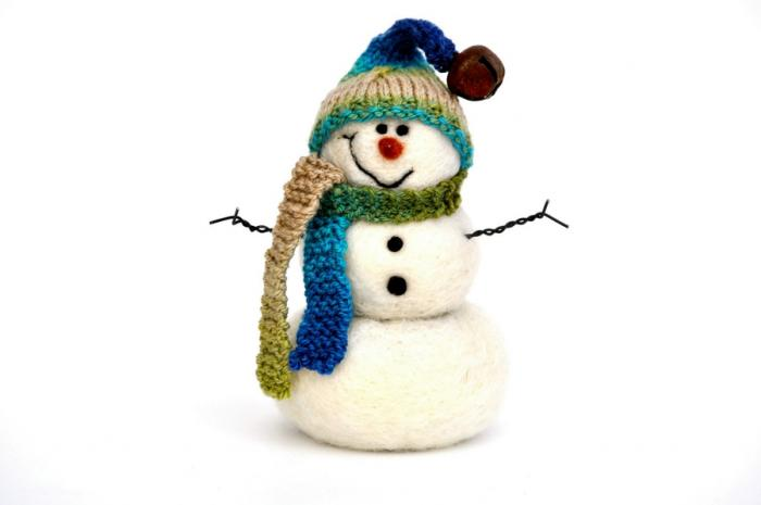 Мастер класс «Валяние сказочного снеговичка»
