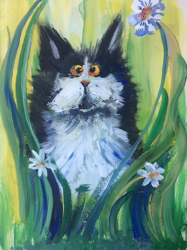Мастер класс по изобразительному искусству «Весенний кот»