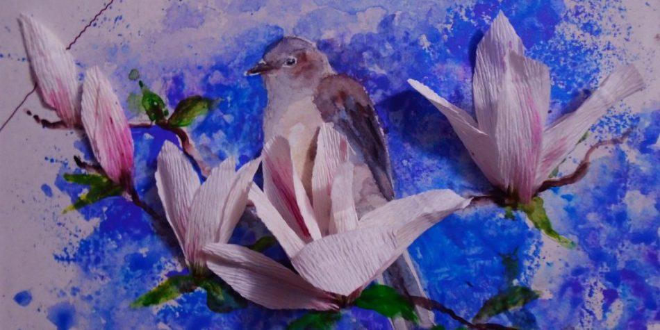 Мастер-класс по изобразительному искусству «Птица счастья»