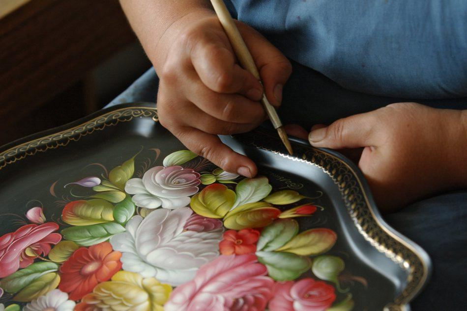 Мастер-класс для детей по Жостовской росписи