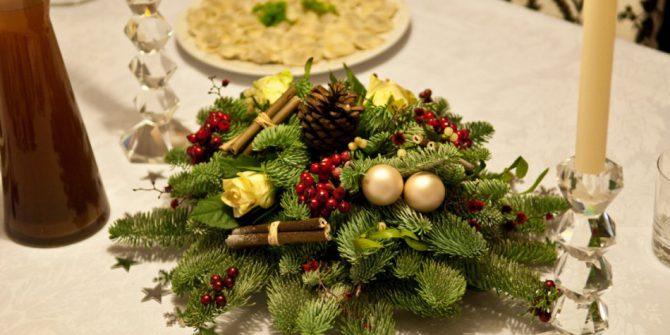 Семинар по украшению рождественского стола