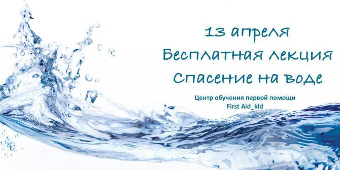 Бесплатная лекция: Спасение на воде