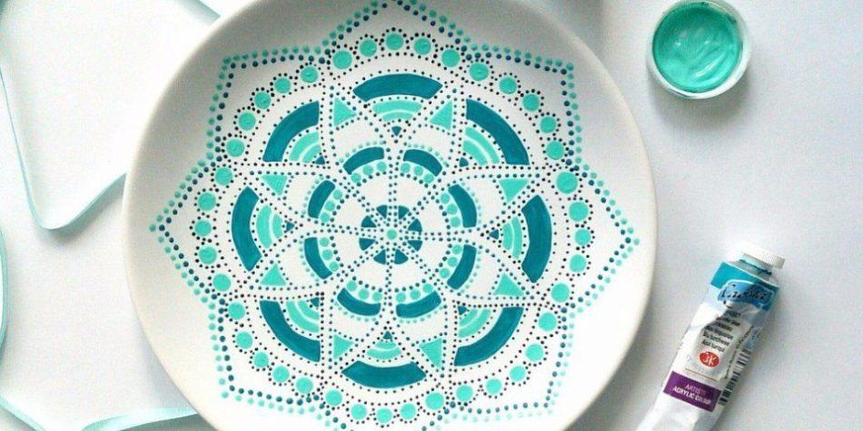 Мастер класс по росписи тарелки