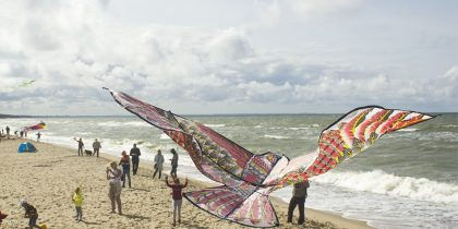 Фестиваль воздушных змеев на Куршской косе