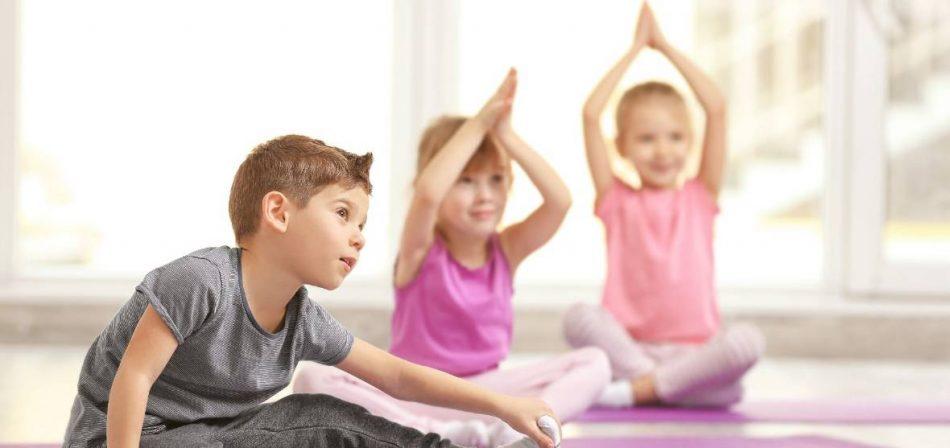 Открытый класс по йоге для детей