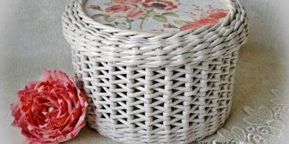 Мастер-класс по плетению шкатулки из бумажных трубочек