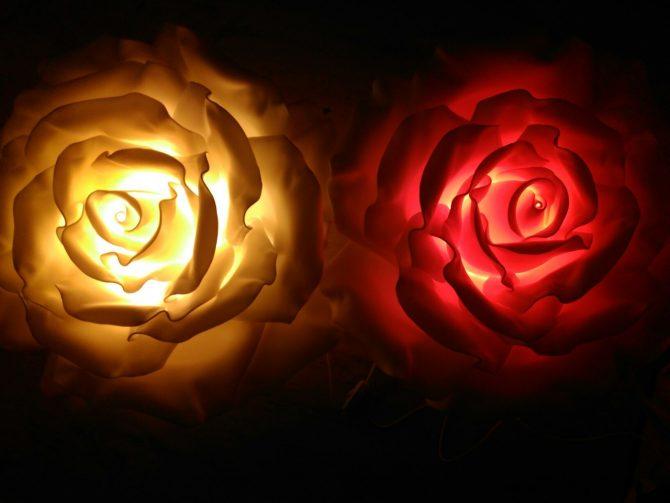 Мастер-класс по созданию светильника бра Роза