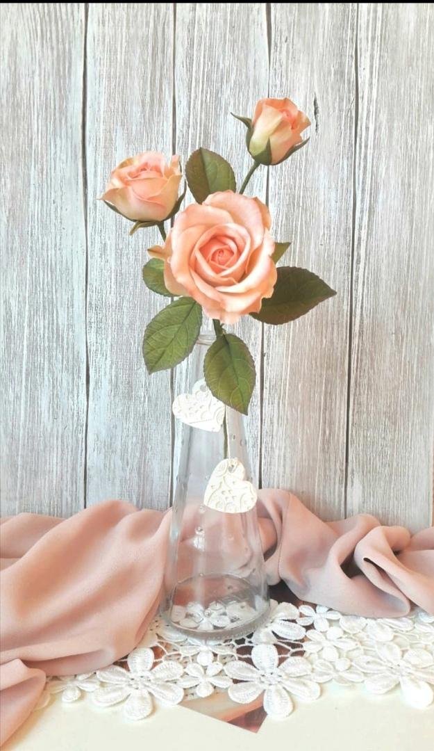 Мастер-класс по созданию кустовой розы из фоамирана