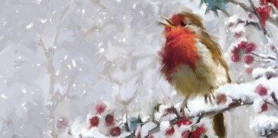 Новогодний мастер-класс по живописи на холсте