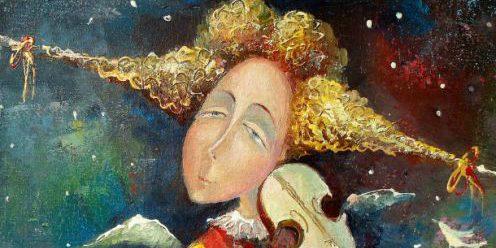 МК по живописи на холсте «Волшебная скрипка»