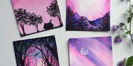 МК по живописи на холсте «Жизнь в розовых тонах»