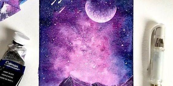 """Живопись на холсте """"Звёздное сияние"""""""