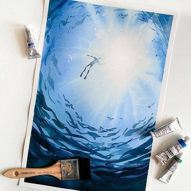 МК по живописи на холсте «Дайвер»