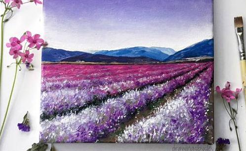 МК по живописи на холсте «Прованс»
