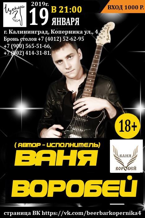Ваня Воробей Концерт