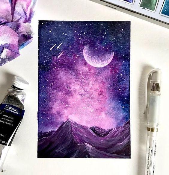 Живопись на холсте «Звёздное сияние»