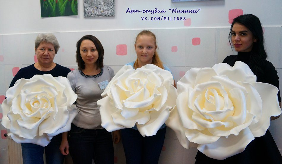 Цветы из изолона (мастер-класс)
