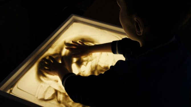 Мастер-класс по рисованию песком