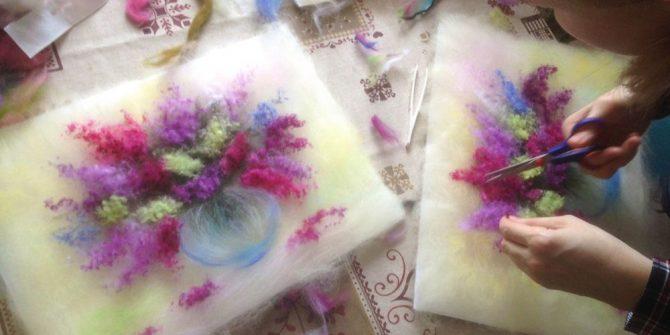 Вводный урок по живописи шерстью