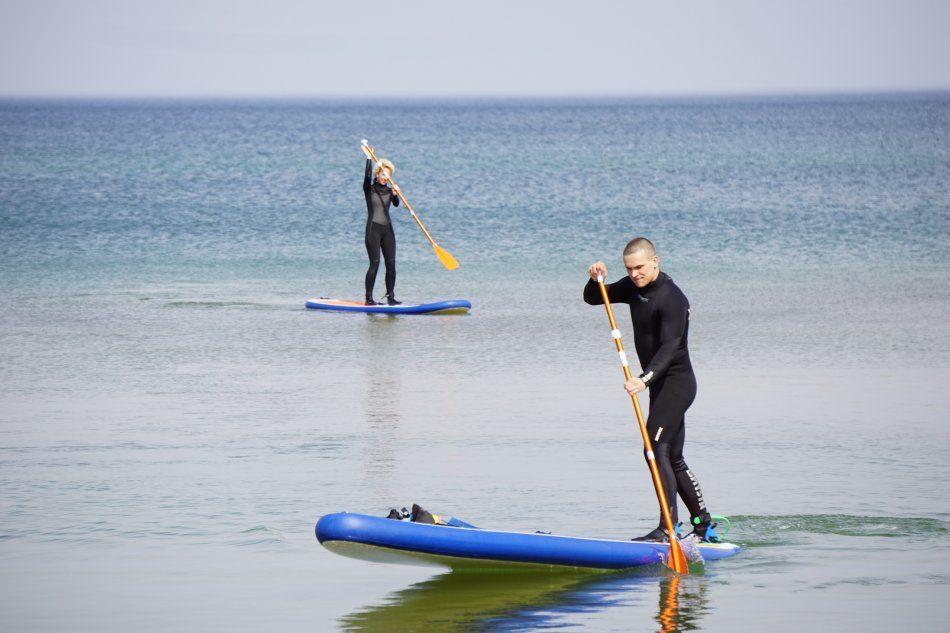 Прогулка на SUP по Балтийскому морю