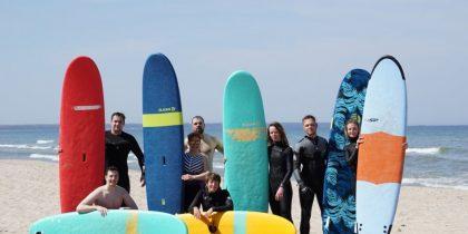 Урок по серфингу в Зеленоградске